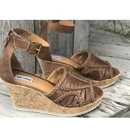 Not Rated Joy Wedge in Tan/Brown