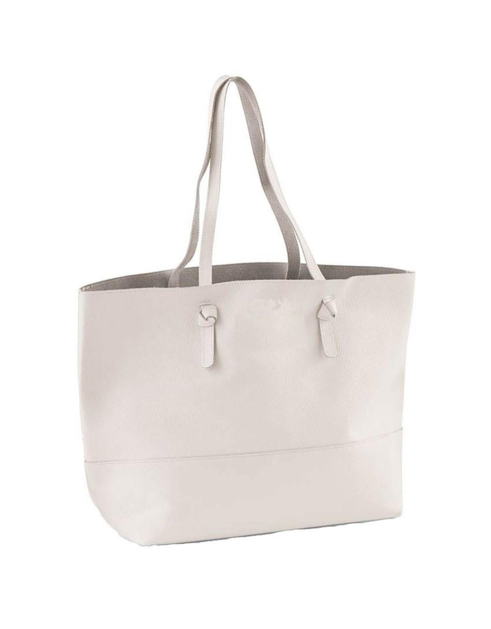 White Leather Perfect Tote