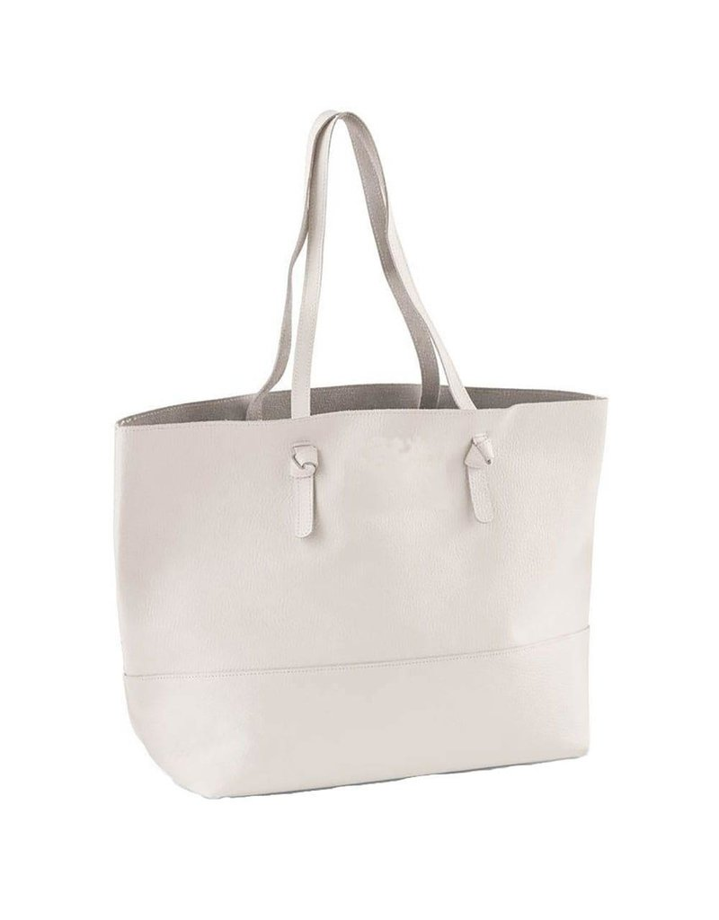 White Leather Perfect Tote