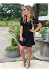 Tie Back Dress - Black
