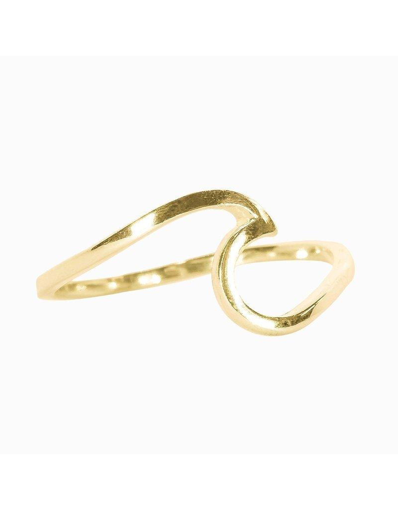 Pura Vida Gold Wave Ring- Size 7
