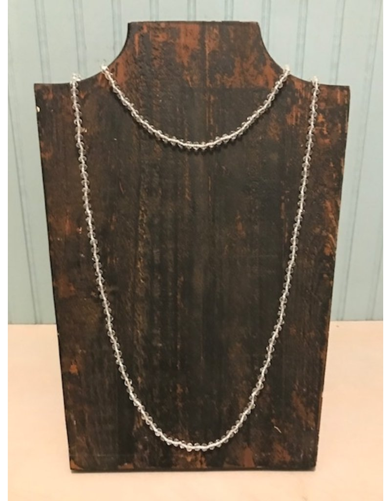 Clear Glass Bead Necklace