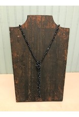 Navy Glass Bead Necklace