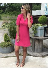 Tie Back Dress - Fuchsia