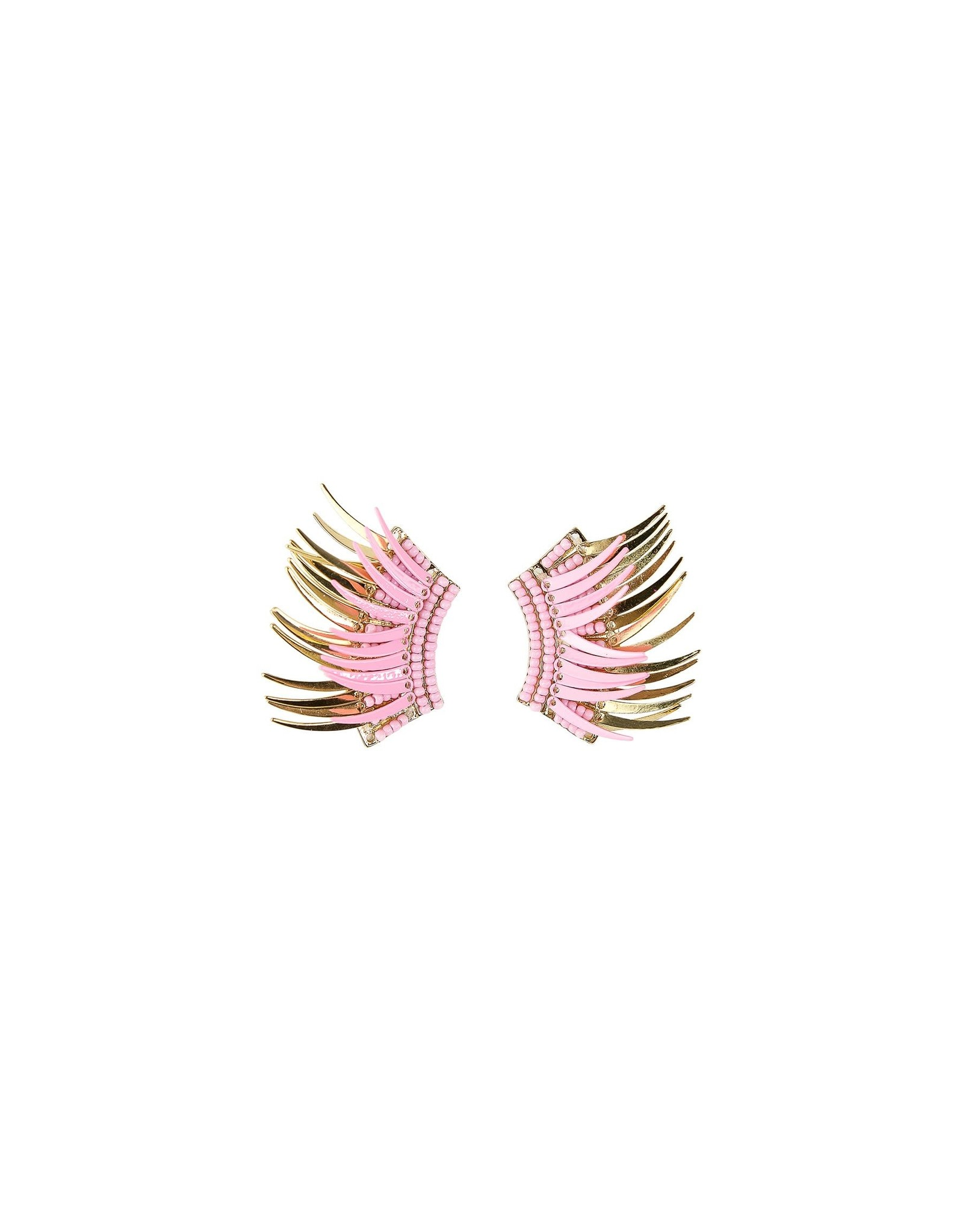 Under our Wings Pink & Gold Earrings
