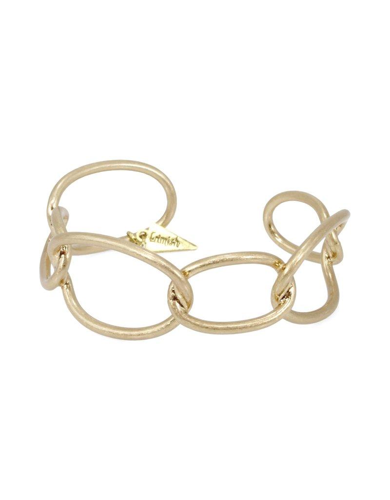 Erimish Gold Link Cuff