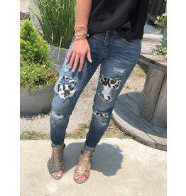 Judy Blue Leopard Patch Skinny Curvy Jeans