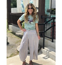 Multi Striped Pants with Side Slits
