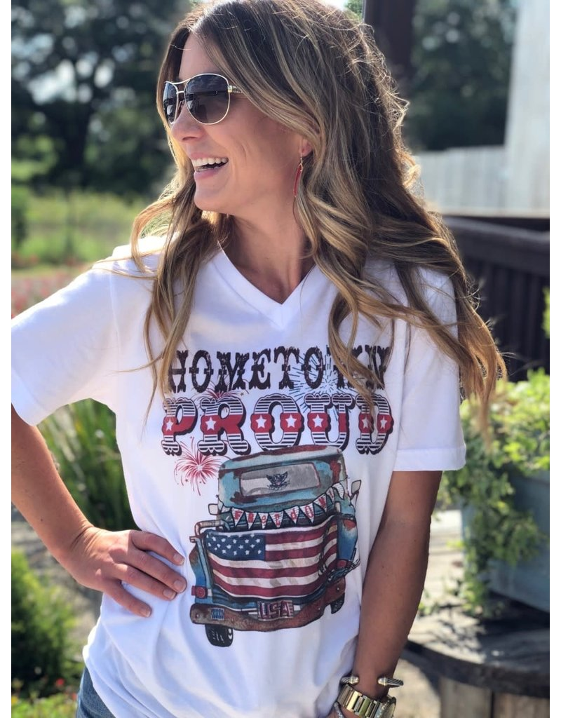 Hometown Proud V-neck Tee