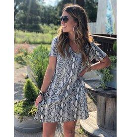 Grey Snakeskin Dress