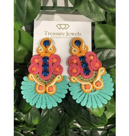 Treasure Jewels Sammy Turquoise Earrings