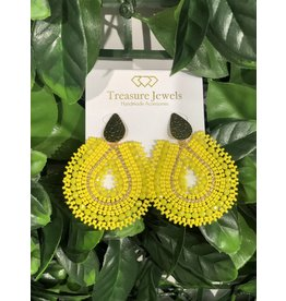 Treasure Jewels Mariana Yellow Earrings