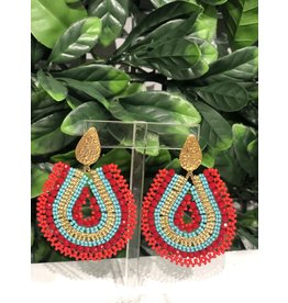 Treasure Jewels Mariana Red & Turquoise Earrings