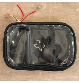 JH #816 Easy View Organizer- Black with Gold Texas Outline