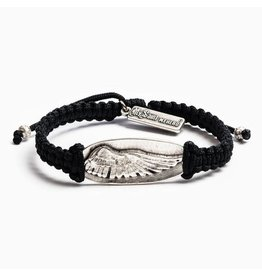 MSMH Protection Angel Wing Bracelet Blk/Sil
