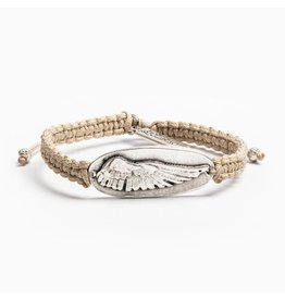 MSMH Protection Angel Wing Bracelet Tan/Sil