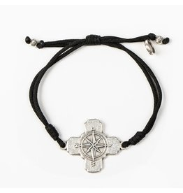 MSMH True North Bracelet Black/Silver