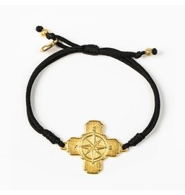 MSMH True North Bracelet Black/Gold