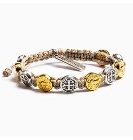 MSMH Benedictine Blessing Bracelet - Tan/Mix