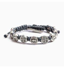 MSMH Benedictine Blessing Bracelet Slate/Sil