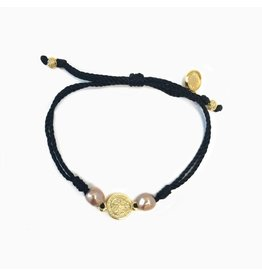 MSMH Blessings & Joy Bracelet Blk/Rose Gold