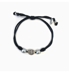 MSMH Blessings & Joy Bracelet Blk/Platinum