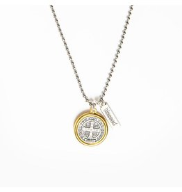 MSMH Benedictine Blessing Gold Rim Necklace