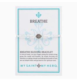 MSMH  Breathe Blessing Bracelet-Metallic Silver