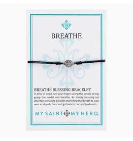 MSMH Breathe Blessing Bracelet Blk/Silver
