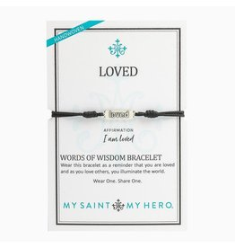 MSMH Words of Wisdom Loved Bracelet Blk/Sil