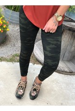 Spanx Look At Me Now Leggings Green Camo