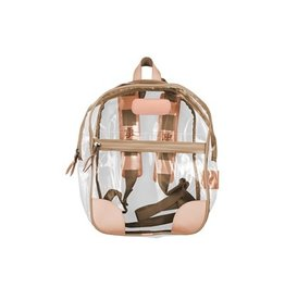 JH #910 Clear Backpack- Saddle