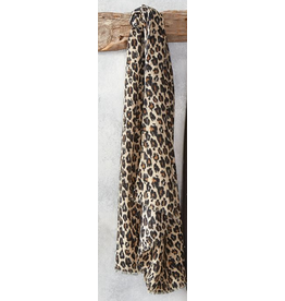 Icon Natural Leopard Scarf