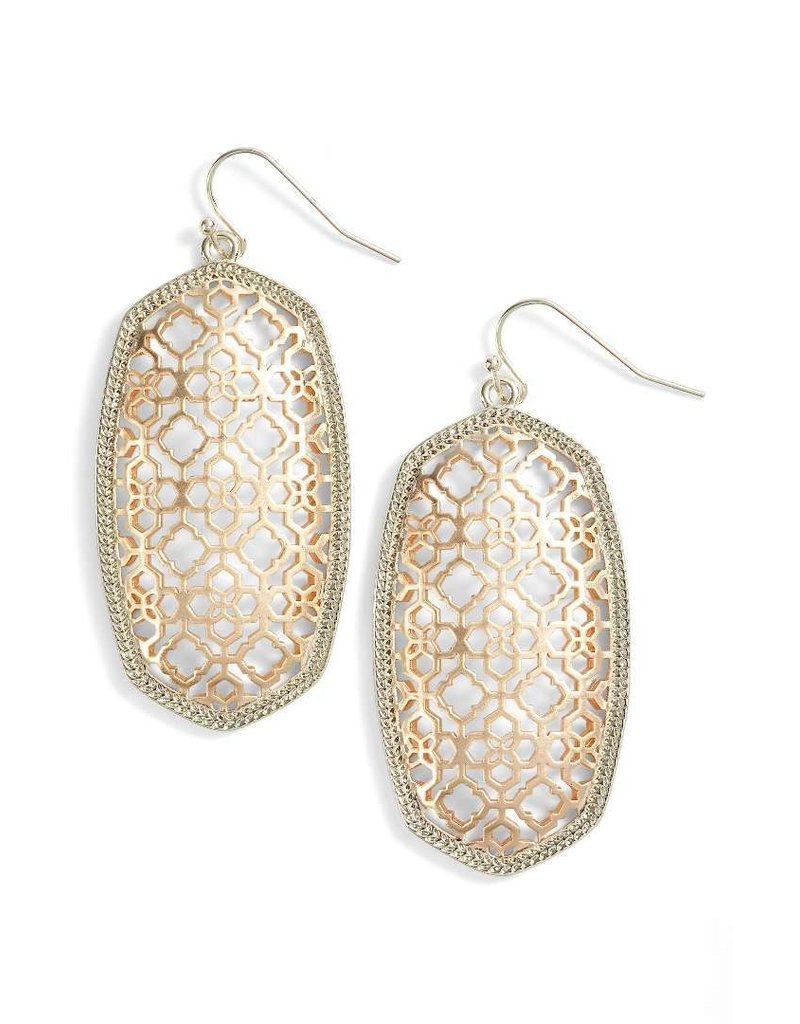 Kendra Scott Kendra Scott Danielle Earrings in Rose Gold Filigree