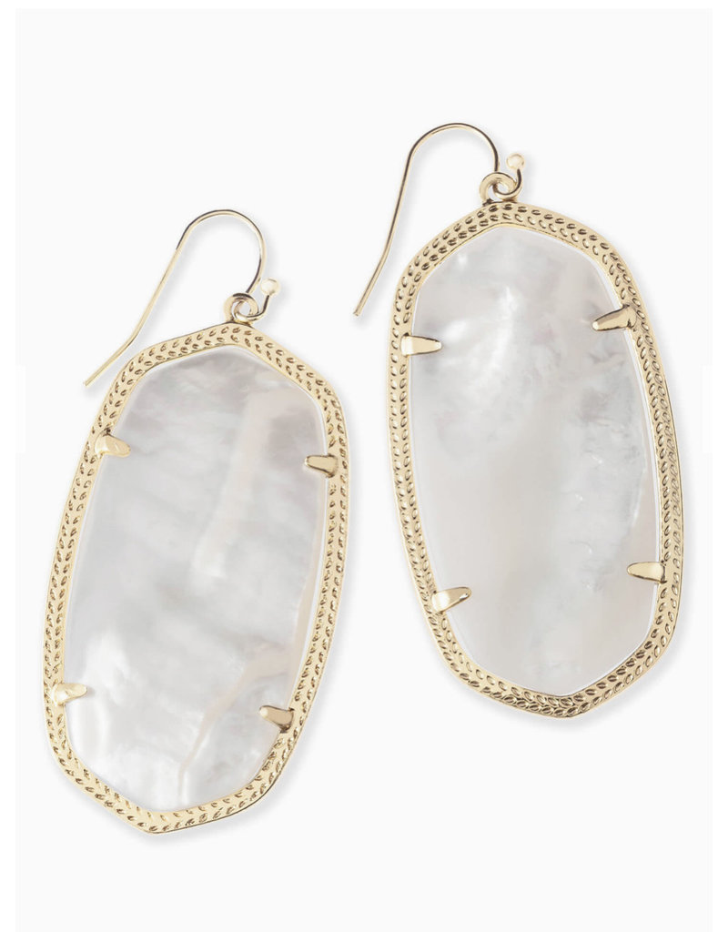 Kendra Scott Kendra Scott Danielle Earrings in Ivory Mother of Pearl