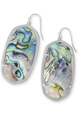 Kendra Scott Kendra Scott Danielle Earrings in Silver Abalone Shell