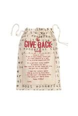 Word Print Give Back Sack