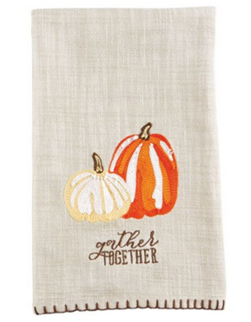 Embroidered Gather Towel