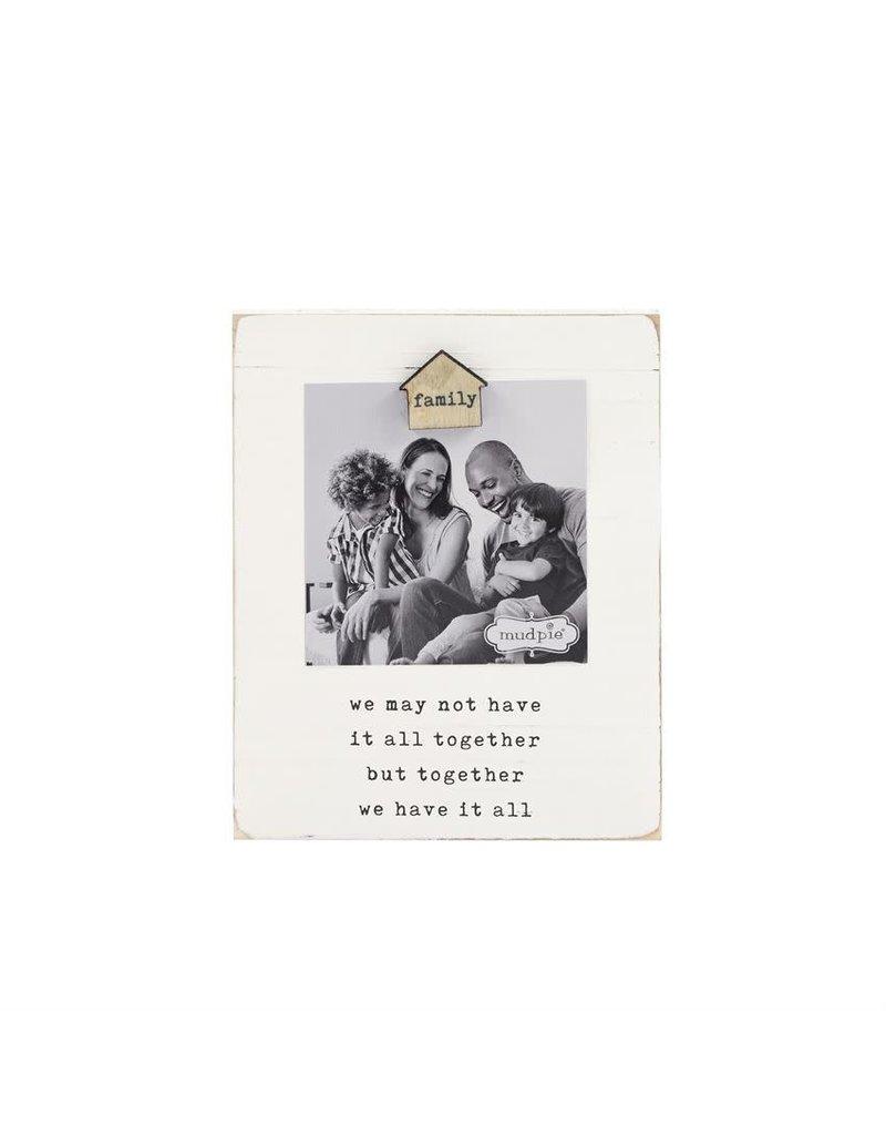 Family Magnet Wood Frame