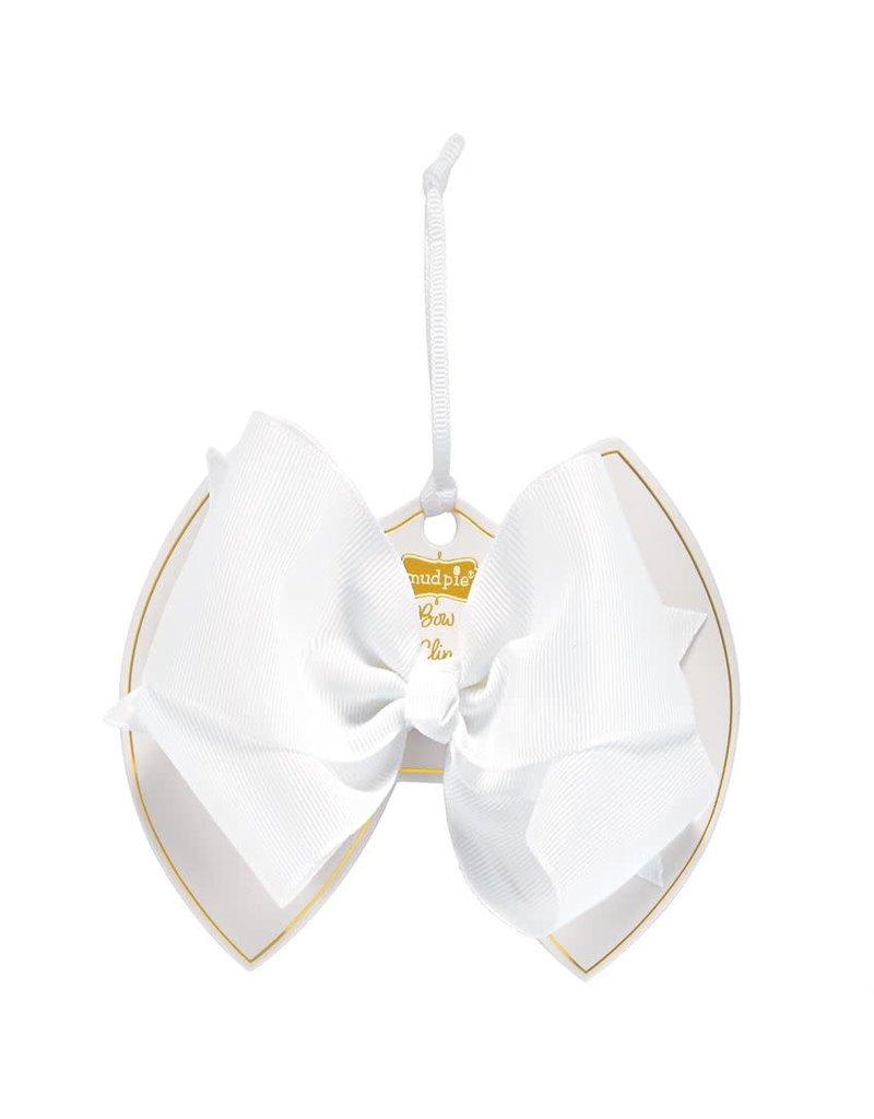 White Bow Clip