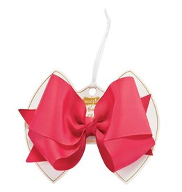 Neon Pink Bow Clip