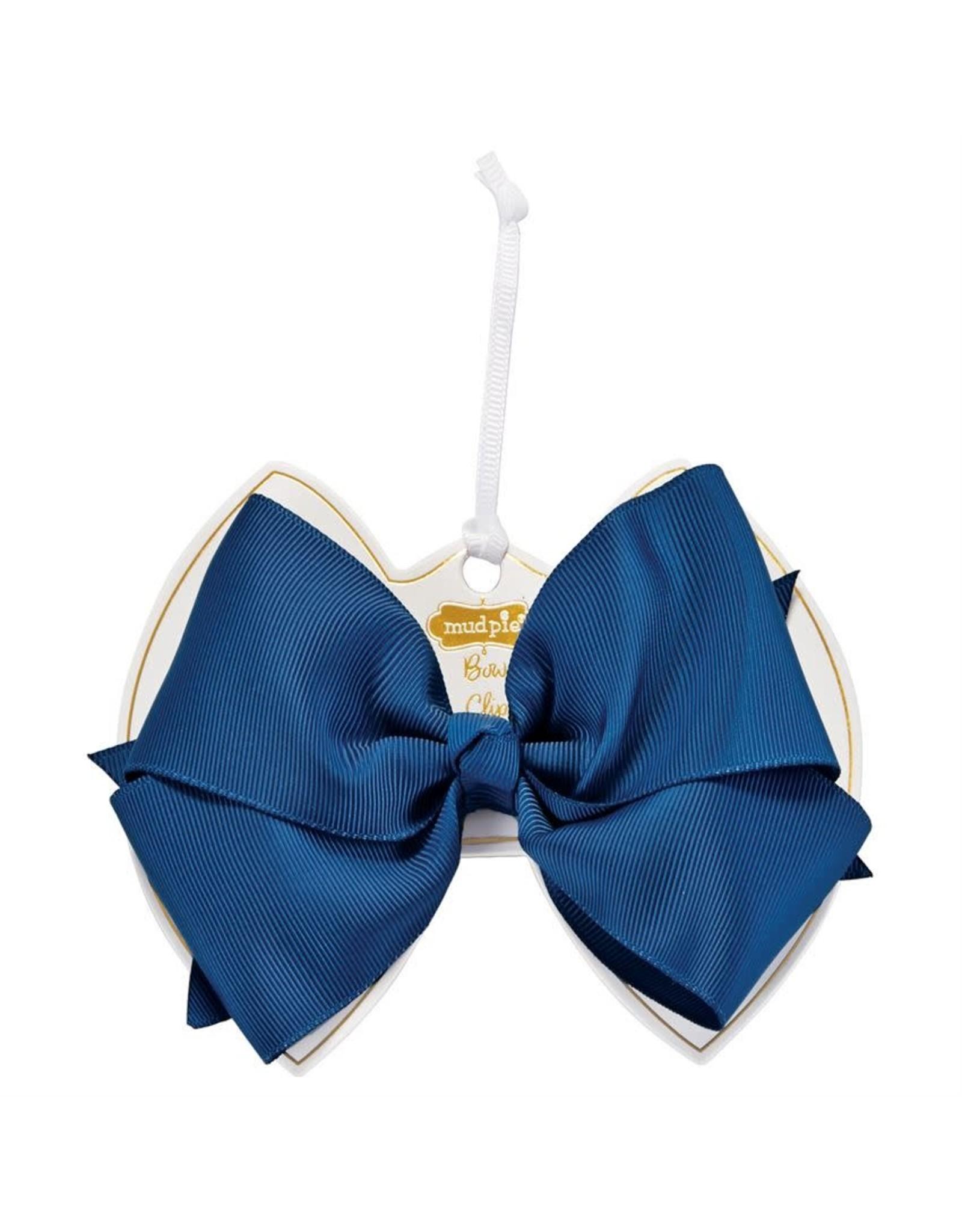 Light Navy Bow Clip