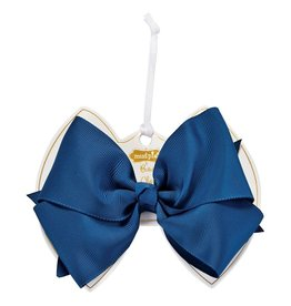 Light Navy Bow Clip