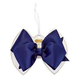 Navy Bow Clip