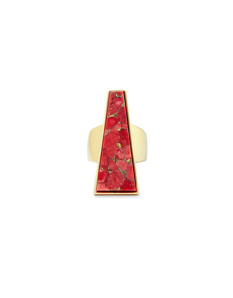 Kendra Scott Collins Cocktail Ring in Bronze Veined Red Magnesite