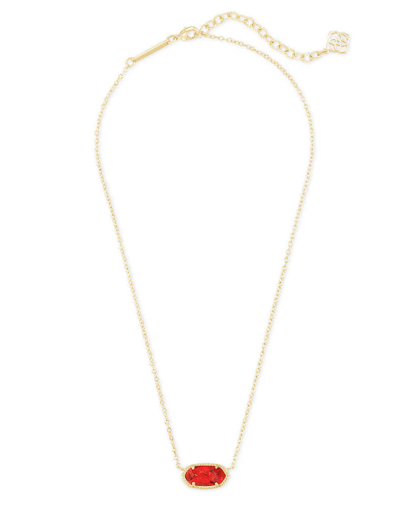 Kendra Scott Elisa Necklace in Bronze Veined Red Magnesite