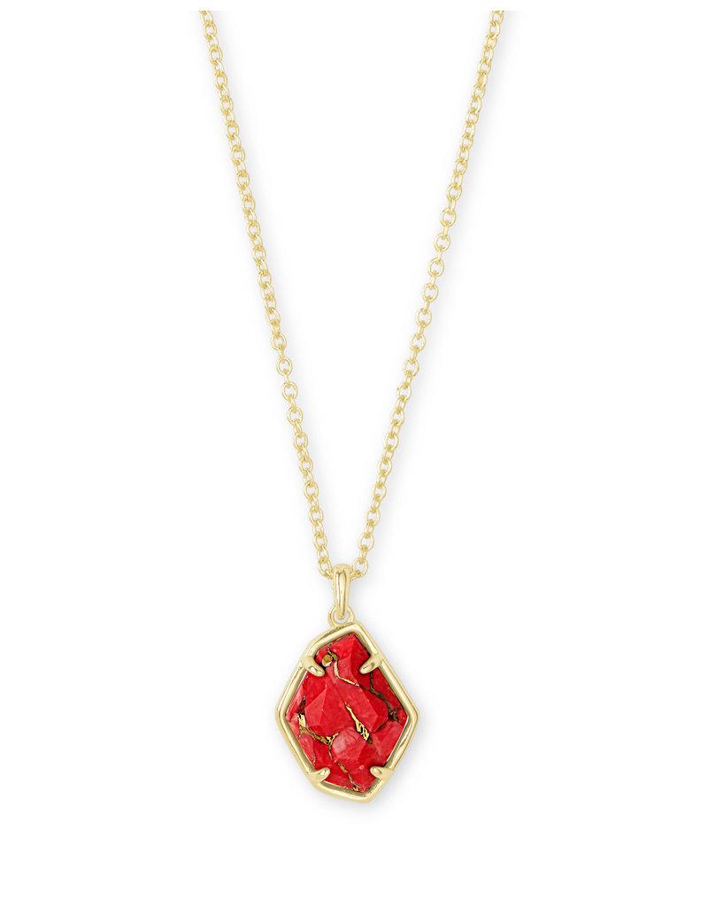 Kendra Scott Ellington Necklace in Bronze Veined Red Magnesite