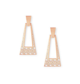 Kendra Scott Large Kase Earrings in Rose Gold