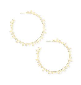 Kendra Scott Lynne Gold Hoop Earrings