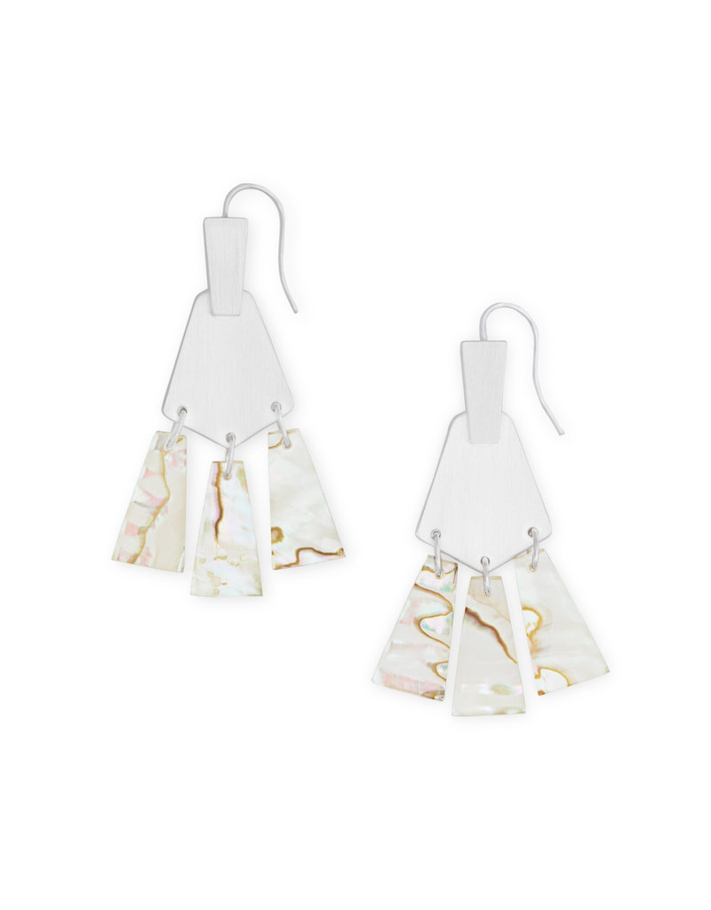 Kendra Scott Small Rechelle Earrings in White Abalone